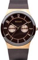 Bering Unisex Brown Milanese Bracelet Watch