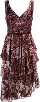 Marchesa floral printed asymmetric dress
