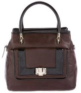 Kate Spade Patent Leather-Trimmed Satchel