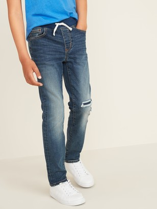 Old Navy Karate Rib-Knit Waist Built-In Flex Max Distressed Jeans for Boys