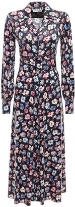 Rotate by Birger Christensen Jojo Floral Print Midi Shirt Dress