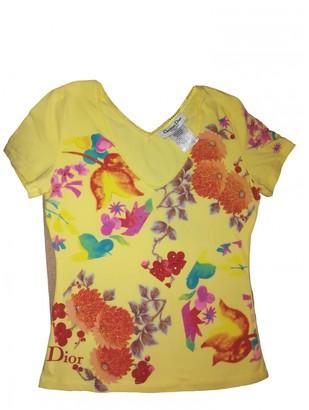 Christian Dior Yellow Cotton Tops