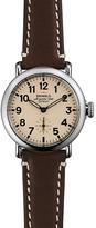 Shinola The Runwell Dark Brown Leather Strap Watch, 36mm