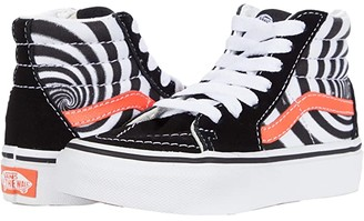 Vans Kids SK8-Hi (Little Kid) ((Swirl) Black/Fiery Coral) Boy's Shoes