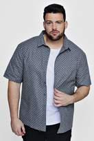 Big And Tall Ditsy Print Short Sleeve Shirt