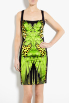 Just Cavalli Printed Stretch Satin Dress