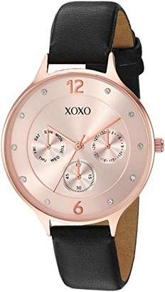 XOXO Women's Quartz Watch with Patent Leather Strap