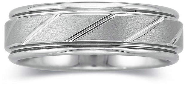 JCPenney MODERN BRIDE Personalized Mens 7mm Comfort Fit Tungsten Carbide Wedding Band