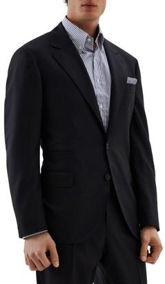 Brunello Cucinelli Houndstooth Wool Suit Jacket