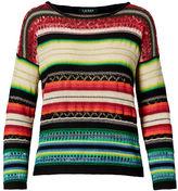 Ralph Lauren Striped Cotton-Linen Sweater