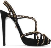Just Cavalli Crystal-Embellished Suede Sandals