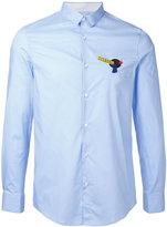 Iceberg logo patch shirt - men - Cotton/Spandex/Elastane - S