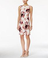 Ivanka Trump Sleeveless Floral-Print Sheath Dress