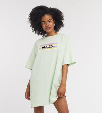 Ellesse oversized t-shirt dress with pastel rainbow box logo