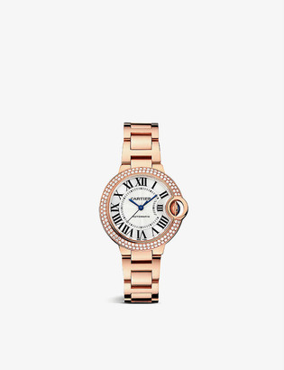 Cartier CRWE902064 Ballon Bleu de 18ct rose-gold and diamond watch