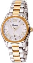 Salvatore Ferragamo 40mm Lungarno Men's Bracelet Watch, Silver/Gold