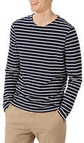 Jigsaw Alexander Long Sleeve Breton Top, Navy