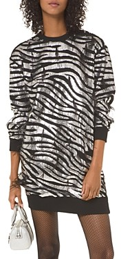 MICHAEL Michael Kors Zebra Sequined Sweater Dress