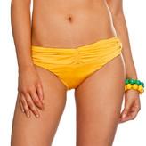 Nicolita Swimwear - Knotty Nicolita Hipsters Bikini Bottom With Ruched Bikini Yellow