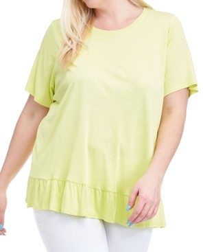 Fever Plus Size Ruffle-Hem Top