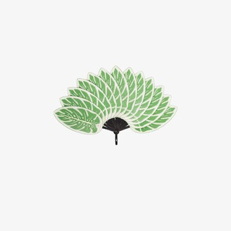 Pubumésu Green Monstera large leaf fan