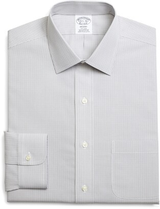 Brooks Brothers Regent Regular Fit Non-Iron Check Dress Shirt