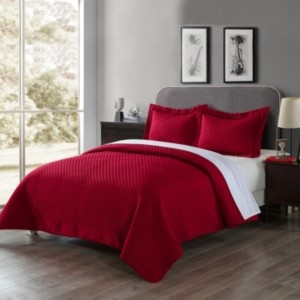 Lotus Home Diamondesque Water and Stain Resistant Microfiber Quilt