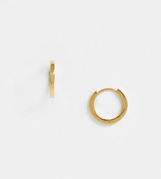 Orelia gold plated huggie hoop earrings