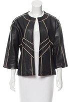 Etro Stitched Leather Jacket