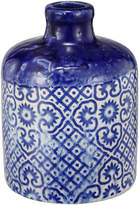 A&B Home Small Blue & White Geometric Vase