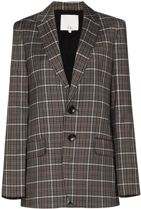 Tibi Checked Pattern Blazer
