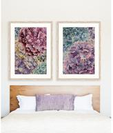 "30 in. x 38 in. ""Happiness and Hydrangea II"" Framed Giclee Print Wall Art"