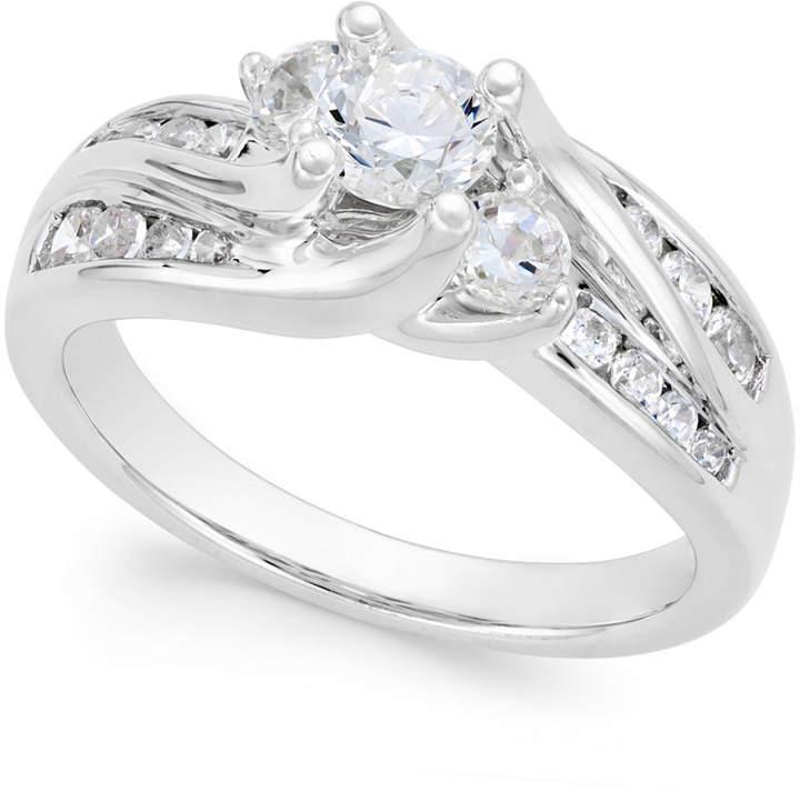 Macy's Diamond Swirl Bridal Ring (1 ct. t.w.) in 14k Gold or White Gold