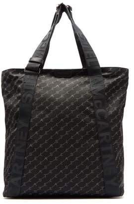 Stella McCartney Logo Print Nylon Tote Bag - Womens - Black Multi