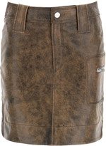 Thumbnail for your product : Ganni Mini Skirt In Vintage Leather