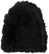 Hat Attack WOMEN'S KNITTED RABBIT FUR SKULLY