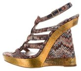 Missoni Printed Woven Wedges