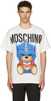 Moschino White Transformers Teddy Logo T-shirt
