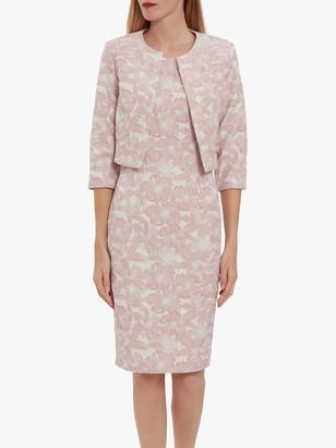 Gina Bacconi Genesia Jacquard Sheath Dress and Bolero, Pink