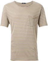 Bassike striped raw pocket T-shirt