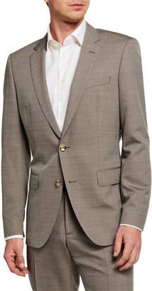 HUGO BOSS Men's Wool-Silk Slim Two-Piece Suit