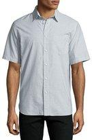 Rag & Bone Solid Short-Sleeve Oxford Shirt, White