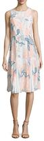 Shoshanna Silk Print Knee Length Dress