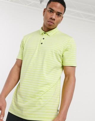 Calvin Klein Golf Splice polo shirt in green stripe