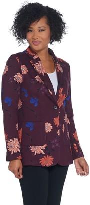 Kelly By Clinton Kelly Kelly by Clinton Kelly Ponte Floral Printed Blazer
