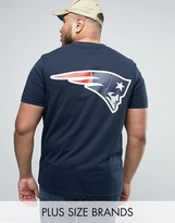 Majestic PLUS Patriots Longline T-Shirt