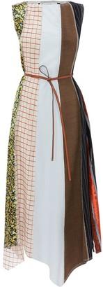 J.W.Anderson Multi-Panel Asymmetric Cotton Dress