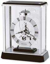 Bulova Vantage Table Clock in Black/Chrome