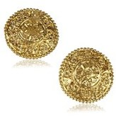 Chanel Pre-owned: Engraved Gold-tone Clip-on Earrings.
