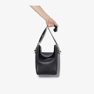 Lemaire Black Medium Fold Over Leather Tote Bag